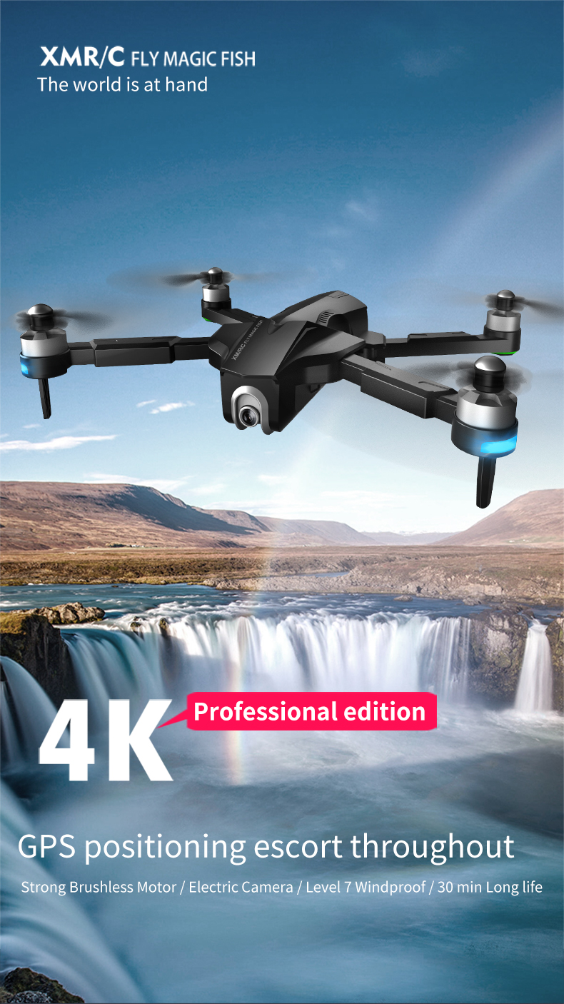 4K GPS Drone with Wifi FPV HD Camera Brushless Quadcopter For Long Flying Time 24