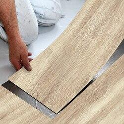 1PCS Modern Style Floor Stickers Wood Grain PVC Waterproof Self-adhesive Bedside Wall Decoration Wallpaper Kitchen Home Decor