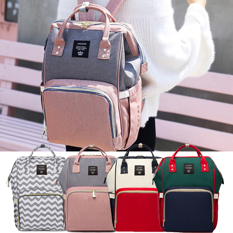 Fashion Maternity Mammy's Bag Diaper Bag Daily Commuting Backpack Large Nappy Bag Babies Milk Bag Travel Picnic Baby Care Wetbag