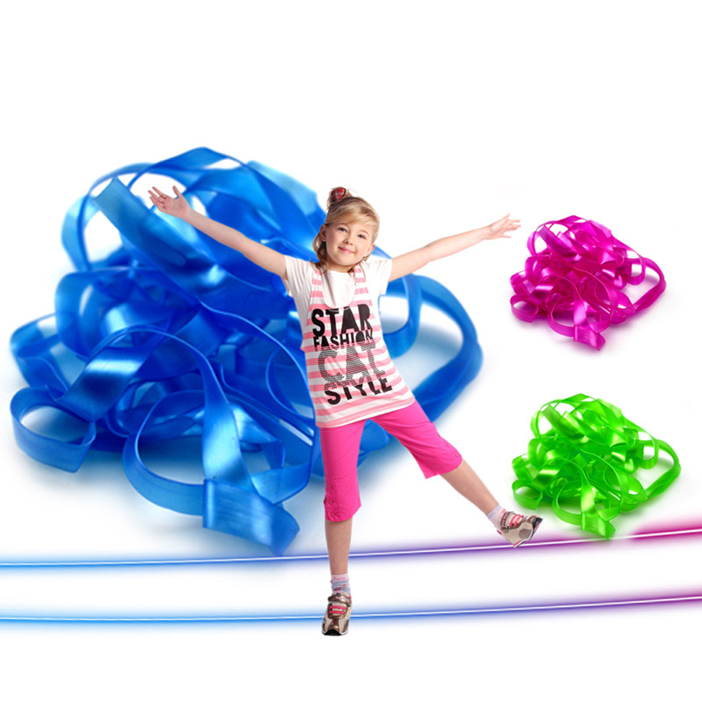 1pc Kids Interective Game Jumping RopesToys For Children Family Outdoor Backyard Boys Girls Activities Elastic Rubber Sports Toy