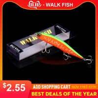 Caminhada peixe 2019 modelo quente wobbler isca de pesca 135mm 17.4g flutuante minnow crankbait baixo pique isca de pesca equipamento pesca