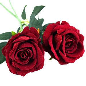 1/2Pcs Real Touch Fake Flower White Red Realistic Rose Artificial Flower Silk Rose DIY Bouquet Weding Birthday Party Home Decor(China)