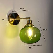 Настенный ретро светильник из латуни и стекла в японском стиле