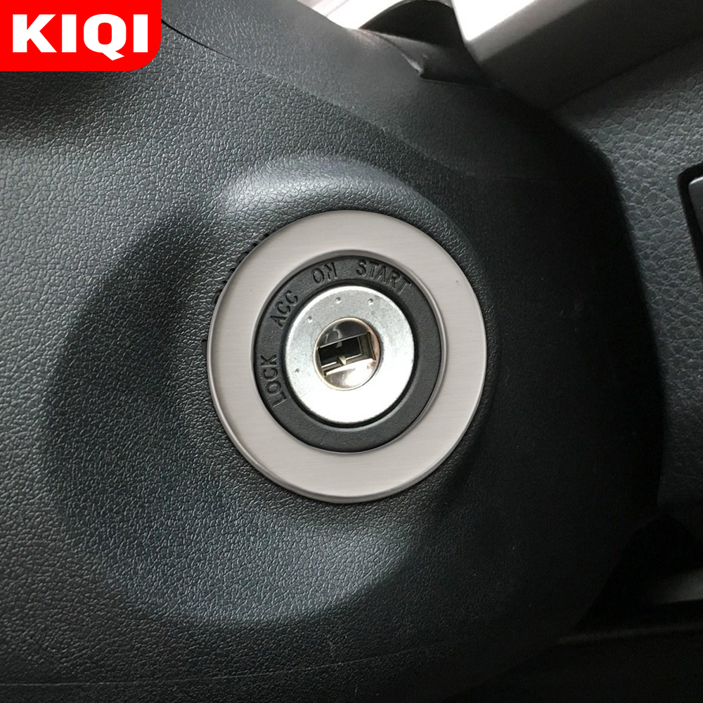 Car Ignition Key Ring Protection Cover Trim Sticker for Toyota Rav4 <font><b>Rav</b></font> <font><b>4</b></font> <font><b>2014</b></font> 2015 2016 2017 2018 2019 Accessories image