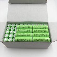 2/4/8/12/20 pces 100% original aa 3000 mah 1.2 v qualidade bateria recarregável aa 3000 mah ni-mh recarregável 1.2 v 2a bateria