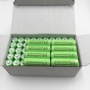 2/4/8/12/20pcs 100% Original AA 3000 mAh 1.2 V Quality rechargeable battery AA 3000 mAh Ni-MH rechargeable 1.2 V 2A battery