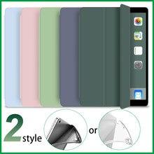 Capa para ipad mini 1 mini 2 mini 3 capa para ipad mini 4 5 caso silicone macio + couro do plutônio inteligente capa auto wake/sono