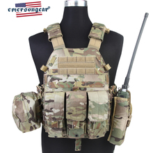 emersongear Emerson Tactical Body Armor LBT6094A Style Plate Carrier Combat Hunting Vest  W 3 pouches Airsoft Military Army Gear