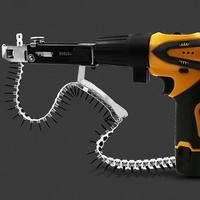 Automatic nail gun Automatic Chain Nail Gun Adapter Screw Gun for Electric Drill Woodworking Tools Cordless Power Drill Attachme-in Bolzenschussgeräte aus Werkzeug bei