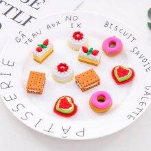 5 unidades/pacote kawaii criativo dos desenhos animados em caixa de leite biscoito borracha bonito artigos de papelaria escola menina estudante suprimentos festa presente favor