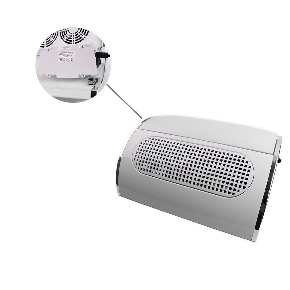 Small and portable Simple operation Nail Vacuum Cleaner Three Fans Nail Dust Collector With High Power Drying Adsorbing Dust