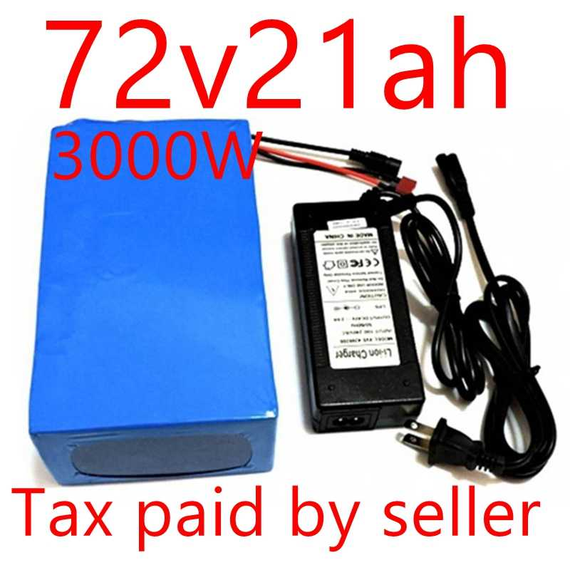 SWORDS FOX  3000W  72v 20Ah Lithium Battery Built in 50A BMS with 84v 5A Charger Electric Bike Battery Free Duty