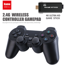 4K HD 64bit 32GB 3550 Games Video game Console HD 2.4G Wireless for CPS PS1 Mini Retro Joystick Double Gamepad Controller Gift