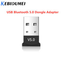 Kebidumei USB Bluetooth 5.0 Adapter Dongle Musik Receiver Nirkabel Mini USB Transmitter Receiver Untuk Laptop Mouse Keyboard(China)