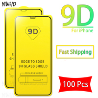 100 Pcs Protective Glass For iPhone XR XS Max X 10 11 Pro Tempered Glas On For Apple i phone 7 Plus 8 6 6S Screen Protector Film