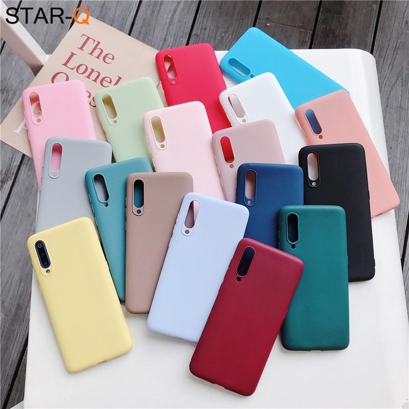 candy color silicone case for xiaomi mi 9 lite se mi9 mi8 8 a2 lite 9t pro a3 a1 note 10 mix 2s 3 matte soft tpu back case(China)