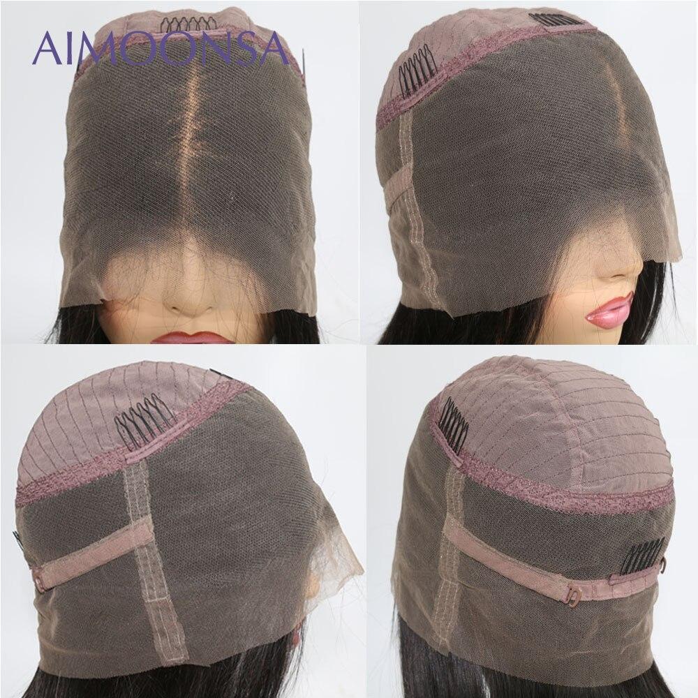 Peluca de pelo humano de Ombre Peluca de onda del cuerpo 360 peluca Frontal de encaje pelo de colores nudos invisibles Peluca de pelo largo Natural Hiarline - 3