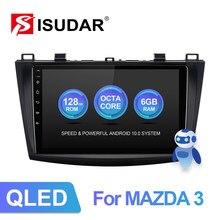 ISUDAR-Radio Multimedia V72 con GPS para coche, Radio con Android 10, 8 núcleos de RAM, 6 GB de ROM, 2010G, 4G, red, sin 2Din, para Mazda 3, 2011, 2012, 2013, 128,