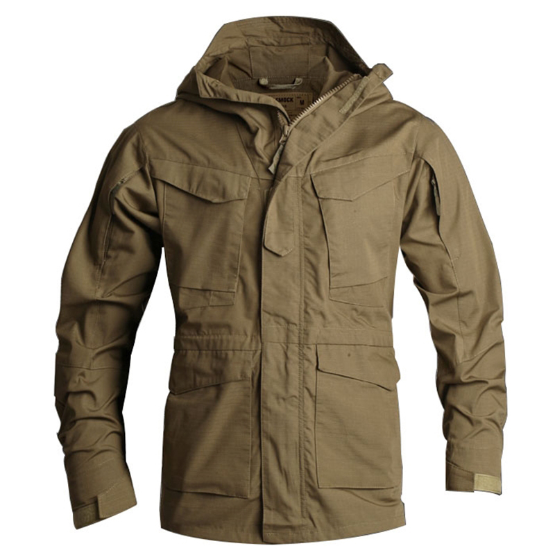 New UK Smock Tactical Trench Coat Male Military M65 Trench Waterproof Windproof Coat Men Outwear Brand Clothing S-3XL BFA010