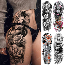 Large Arm Sleeve Tattoo Japanese Geisha Samurai Waterproof Temporary Tatto Sticker Gun Waist Leg Body Art Full Fake Tatoo Women тональное средство для лица skin balance cover 30мл no 20 шампанское