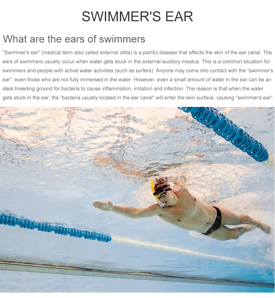 2x Soft Silicone Waterproof Swimming Swim Diving Water Sport Ear Plug Protector