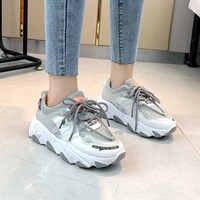 Outono chunky tênis feminino plataforma casual sapatos femininos 2019 moda sapatos brancos zapatos de mujer tênis tenis cesta femme