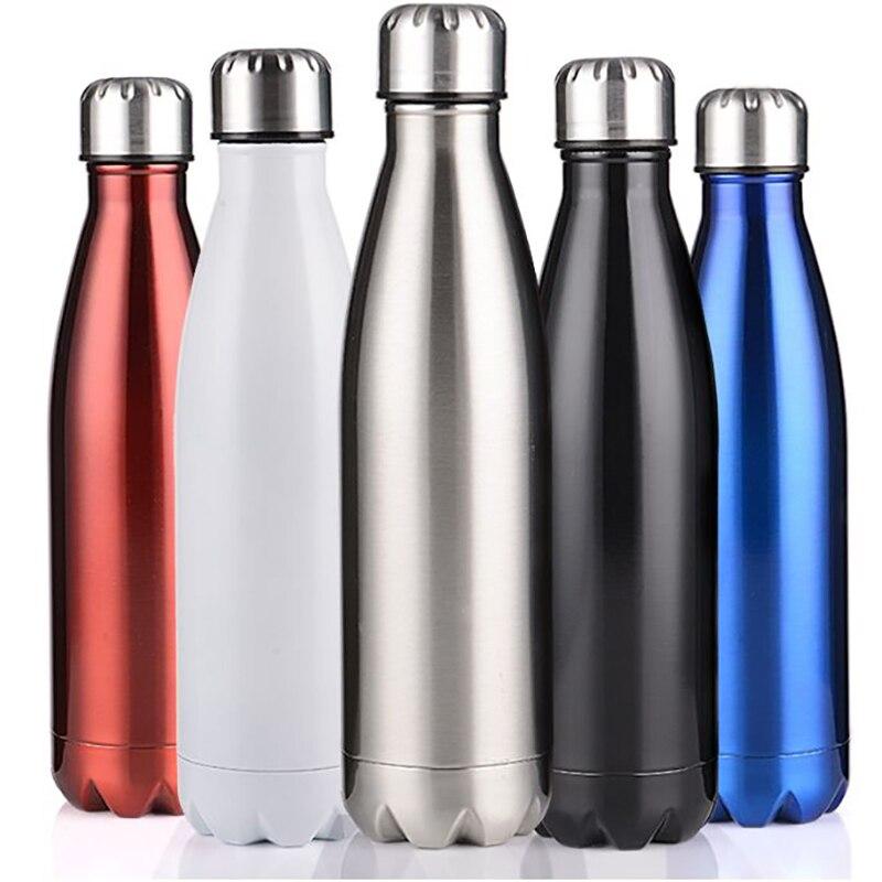 350/500/750/1000 ml Doppel-Zauberstab Isolierte Thermoskanne Thermoskanne Edelstahl Wasser Flasche Cola chilly Flasche