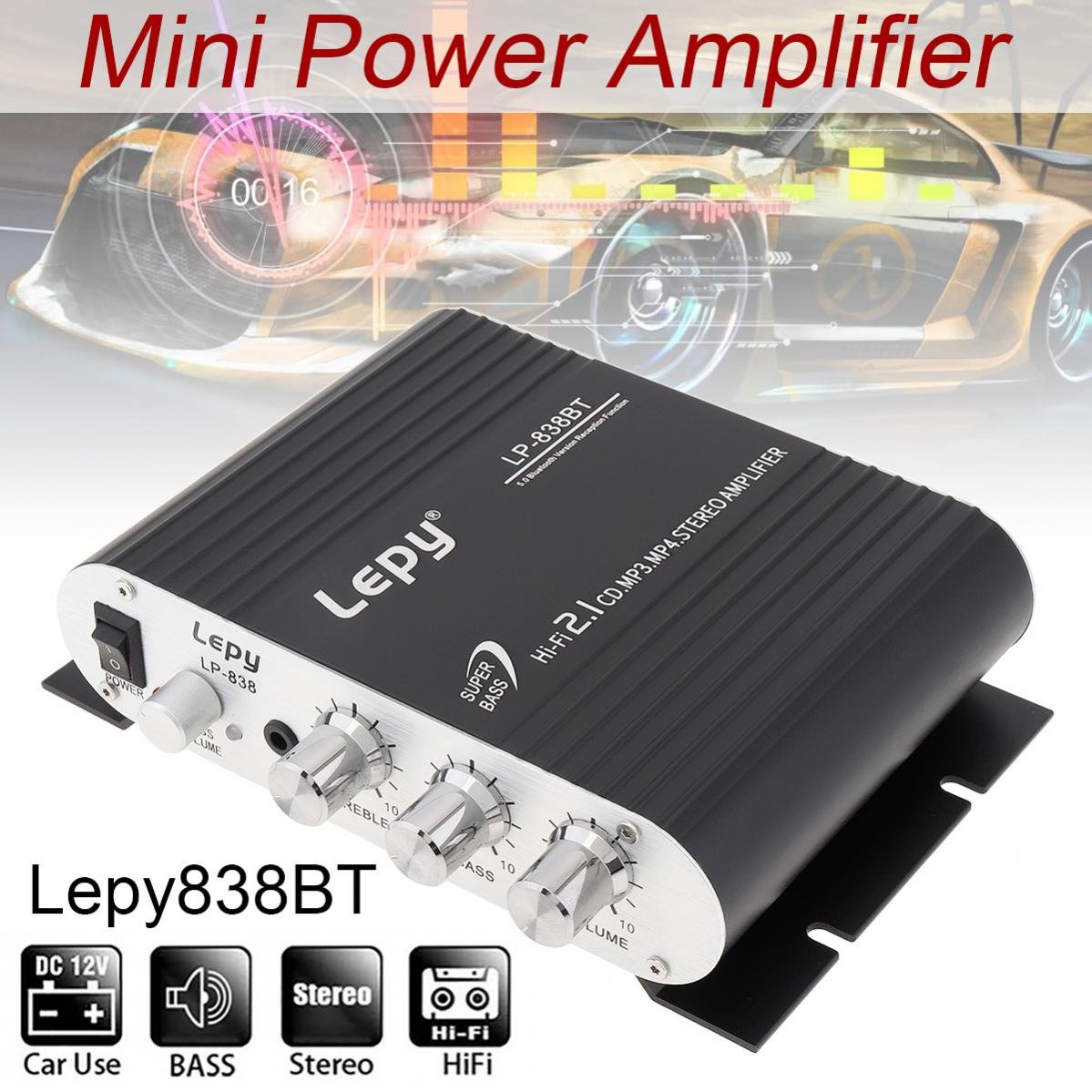 Remote Control Bluetooth 2.1CH HI-FI Car Audio High Power Subwoofer Amplifier FM Radio Player Support SD/USB for Car Motorcycle