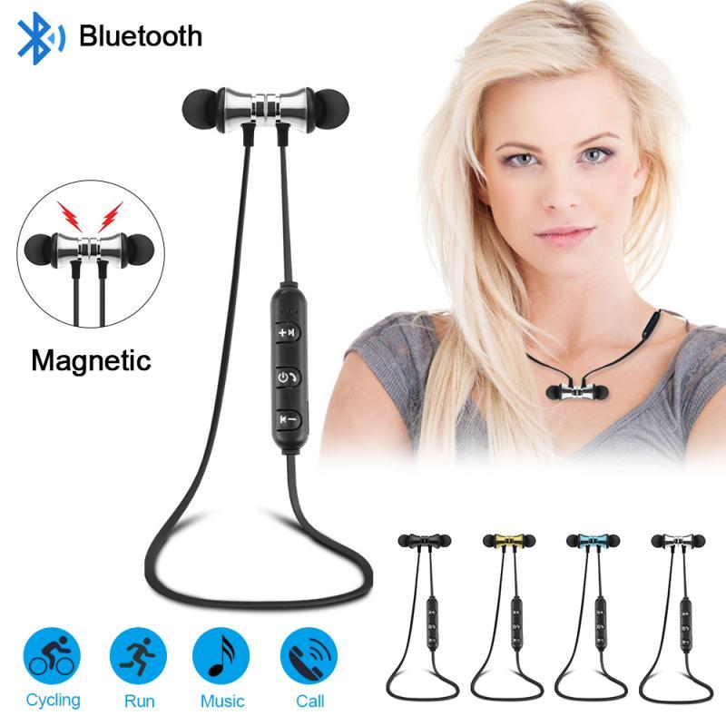 Беспроводная Магнитная Bluetooth-гарнитура V4.2, беспроводные Bluetooth-наушники, беспроводные магнитные стереонаушники с микрофоном, Спортивная гар...
