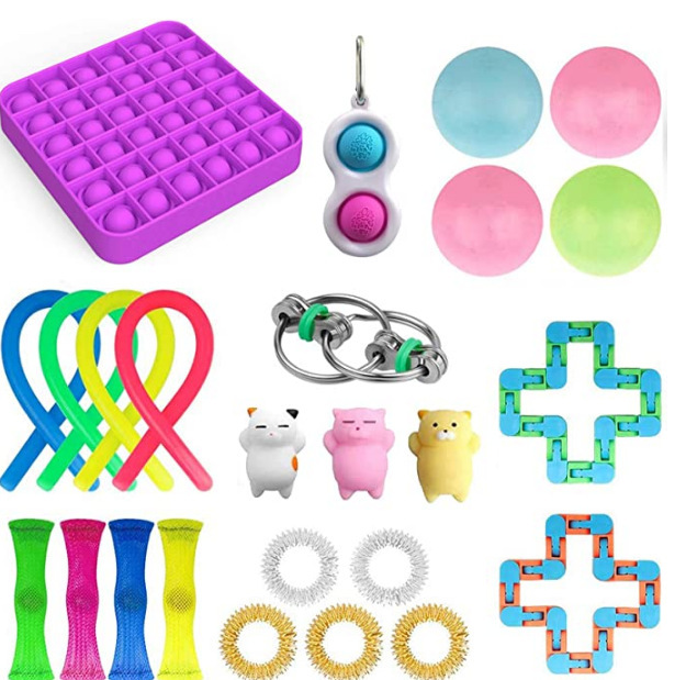 Fidget-Toys Strings Anti-Stress-Toy-Set Mesh Marble Relief-Gift Sensory Girl Adults Stretchy