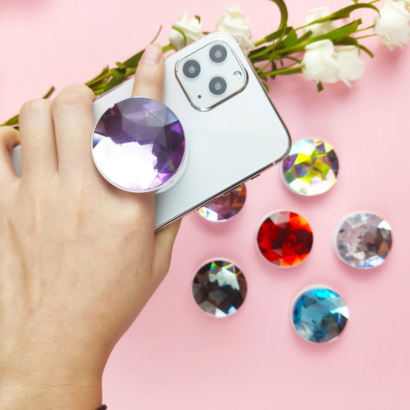 Phone Holder Stand 3D Large Crystal Folding Ring Holder For IPhone Smartphone Mobile Phone Ring Holder Bracket
