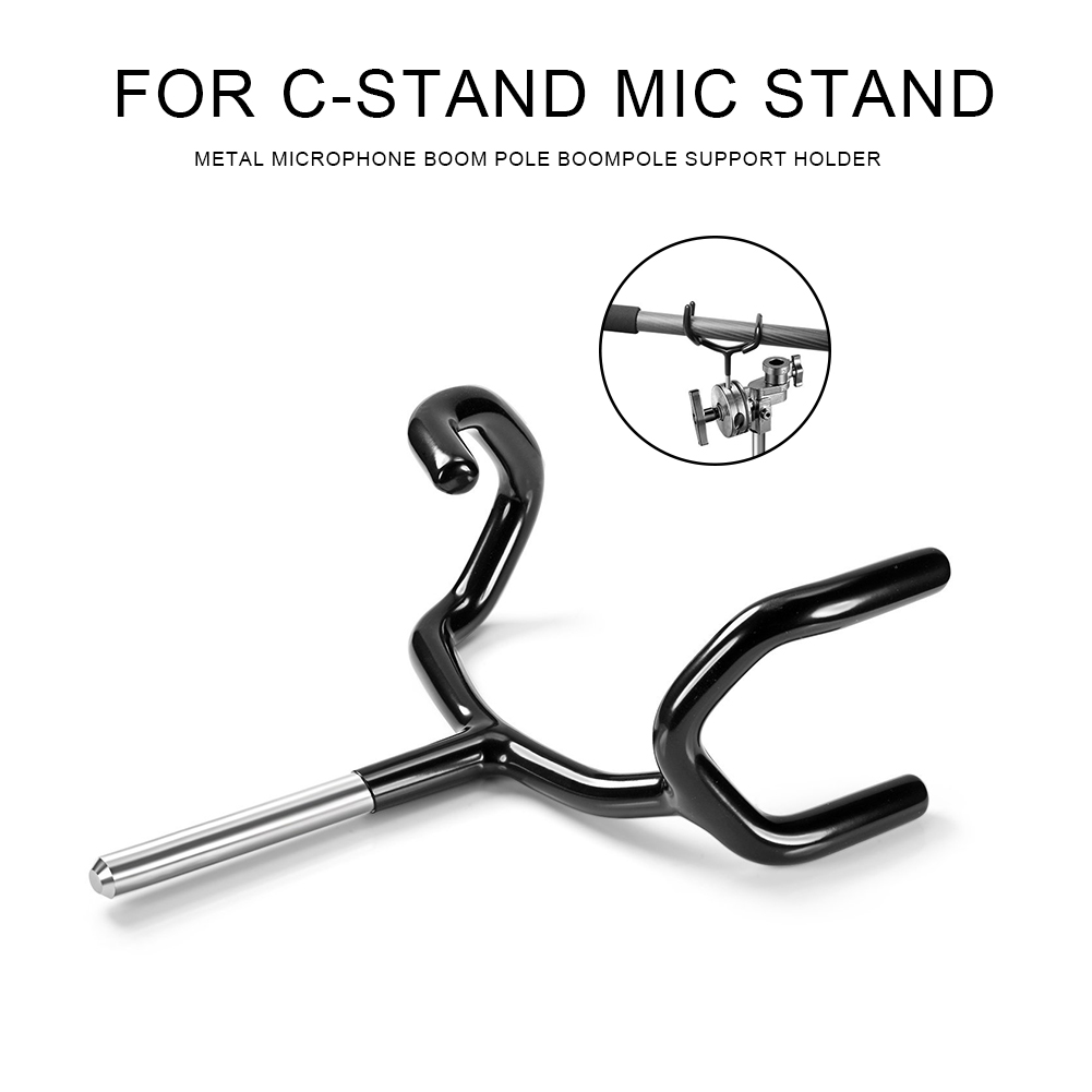 New Metal Microphone Boom Pole Boompole Support Holder Recording Bracket Professional Boompole Holder for C-Stand Mic Stand - ANKUX Tech Co., Ltd