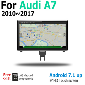 Image 2 - Radio Multimedia con GPS para coche, Radio con reproductor, Android 9,0, 4 + 64, navegador, pantalla táctil, estéreo, para Audi A7 4G8 2010 ~ 2017 MMI