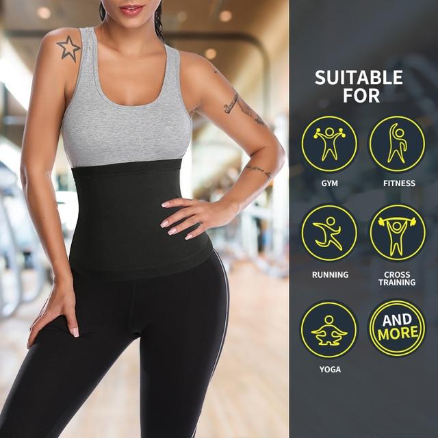 Women Waist Trainer Corset Slimming Body Shaper High Compression Tummy Waist Shaper Sweat Belt Faja Shapewear 4