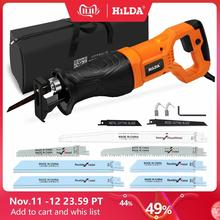 HILDA Electric Saw Reciprocating Saw for Wood Metal Plasitic Pipe Cutting Power Saw Tool with Saw Blades