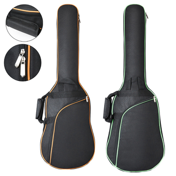 professional portable thicker 24 army drum kit bag backpack oxford package soft gig cover waterproof box black shoulder straps 38 - 41 Inch Oxford Fabric Guitar Gig Bag Double Straps Pad 8mm/10mm Cotton Thickening Soft Cover Waterproof Backpack