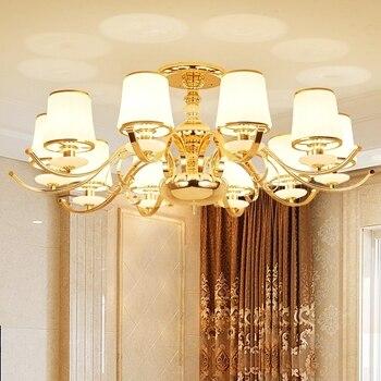 Modern Lustre Gold marble Led Ceiling Chandeliers Lamp Marble Living Room Led Chandelier Lighting Dining Hanging Lights Fixtures