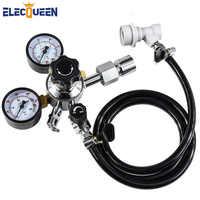 """Assemblage de ligne gaz bière, tuyau de gazage en PVC 5/16 """", régulateur de Co2 avec adaptateur de conversion pour la bouteille de gaz Co2"""