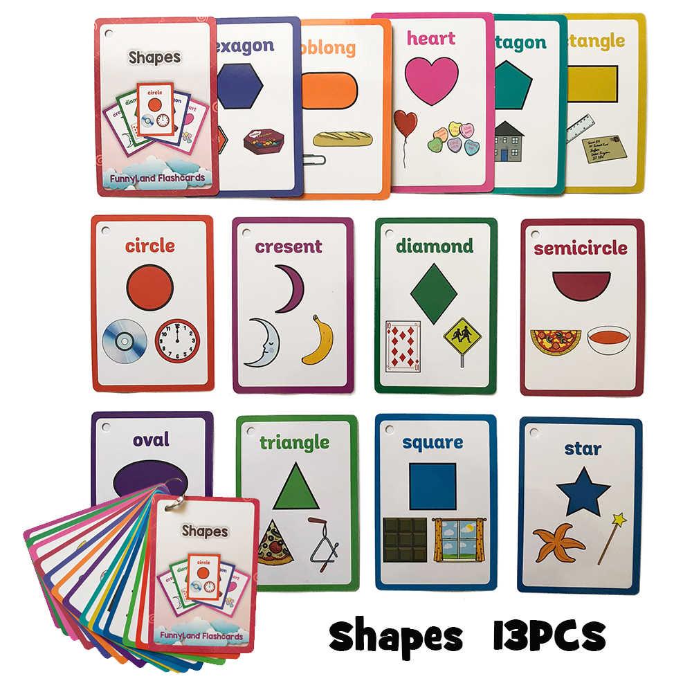 Juguetes educativos para niños Montessori para bebés para aprender inglés, tarjeta de palabras, Flashcards educativos para la estimulación cognitiva, regalos para niños