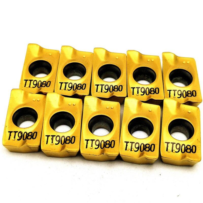 10pcs APMT1604 PDER TT9080 Milling Carbide Insert Turning Tool Lathe Milling Cnc Tools Milling Cutter Finishing APMT1604PDER