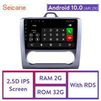 Seicane For 2004 2005 2006 2007 2011 Ford Focus Exi AT Android 10.0 2 DIN 9 Inch GPS Navigation Touchscreen Quad core Car Radio