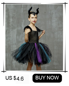 H13912fb408ec43e4a4b5a32dd74a8a02Z Maleficent Black Gown Tutu Dress with Deluxe Horns and Wings Girls Villain Fancy Dress Kids Halloween Cosplay Witch Costume