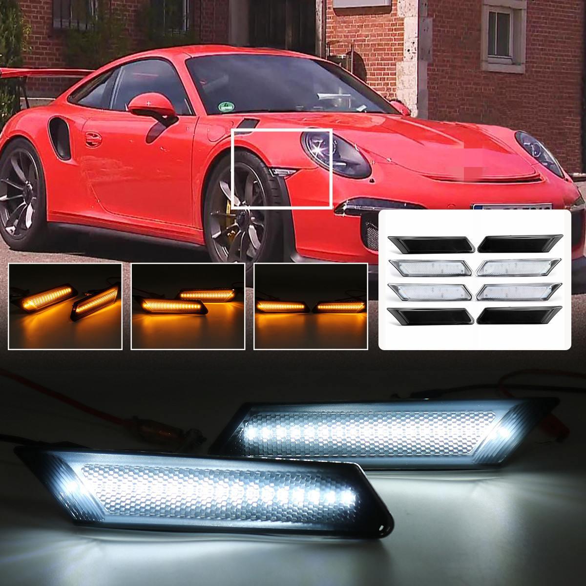 For Porsche Cayenne Front Turn Signal Side Marker Light Pair Clear European