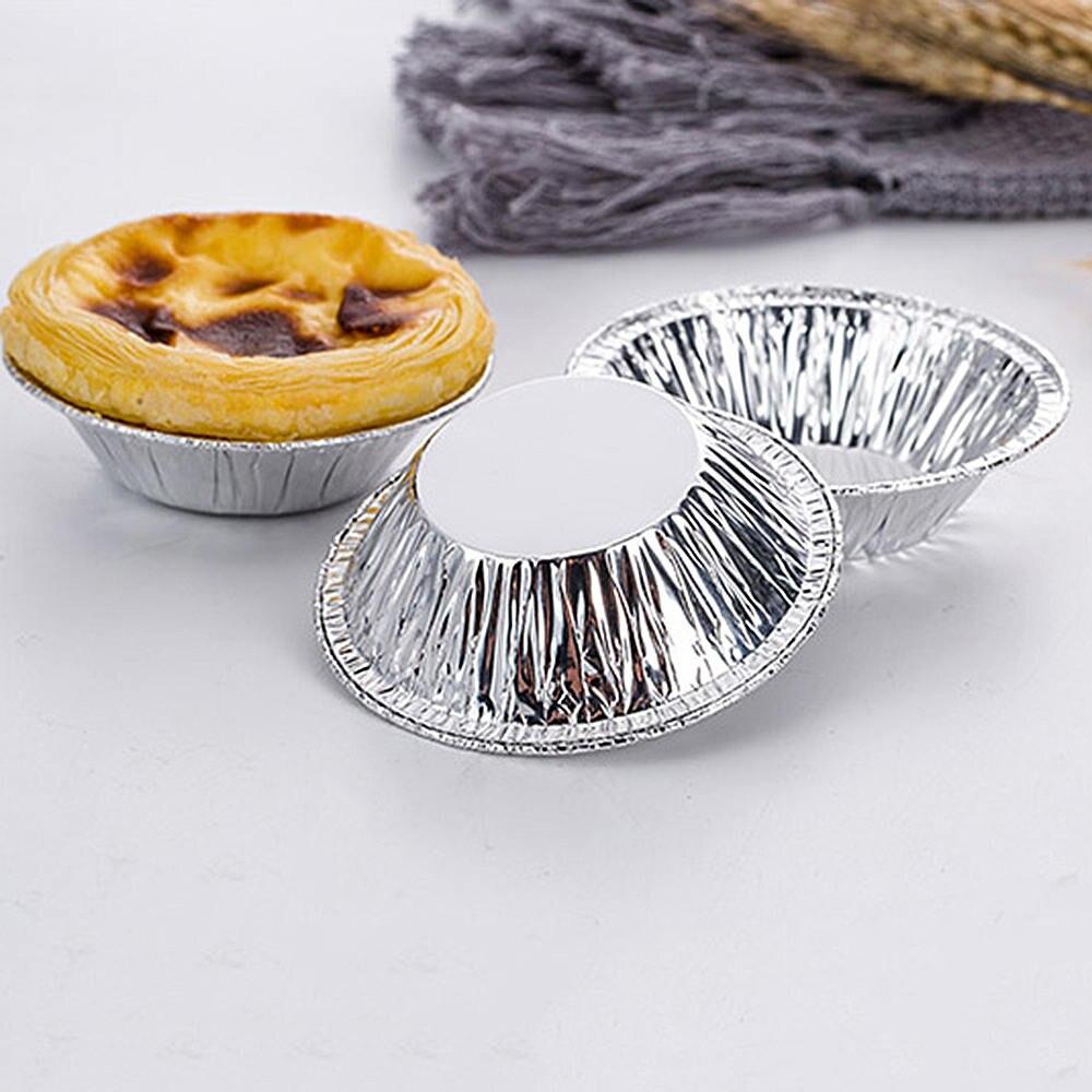 10~100PC Egg Tart Aluminum Cupcake Cake Cookie Lined Mold Mould Tin Baking Tools