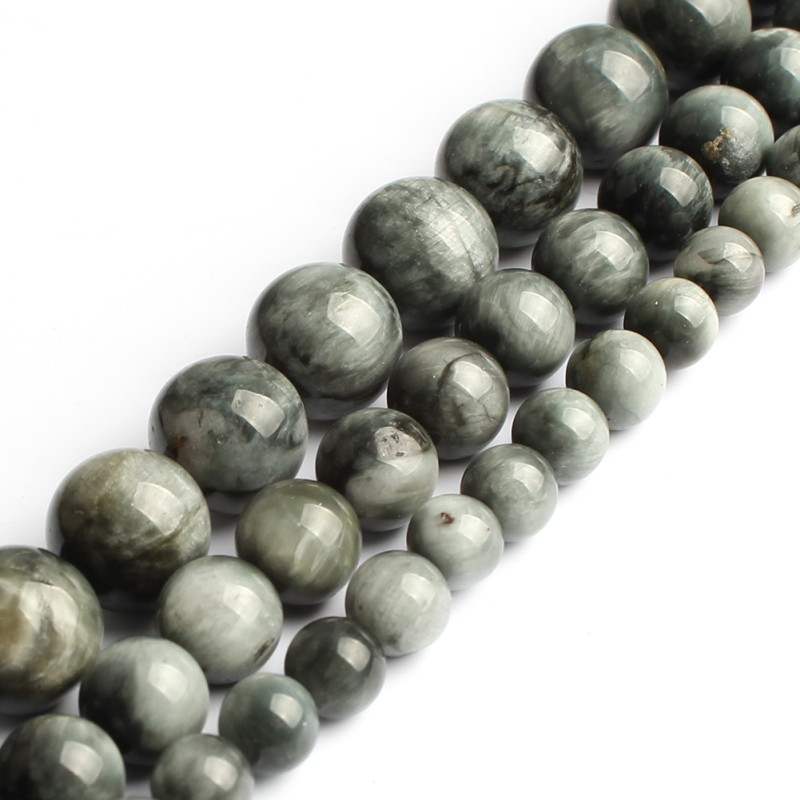6 8 10MM AAA Natural Eagle Eye Beads Round Loose Gemstone Stone Beads For Jewelry Making DIY Charm Bracelet Necklace 15 Inch New