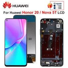 Original For Huawei Honor 20 LCD Touch Screen Display Digitizer Assembly For HUAWEI NOVA 5T Display YAL-L21 YAL-AL00 YAL-L61