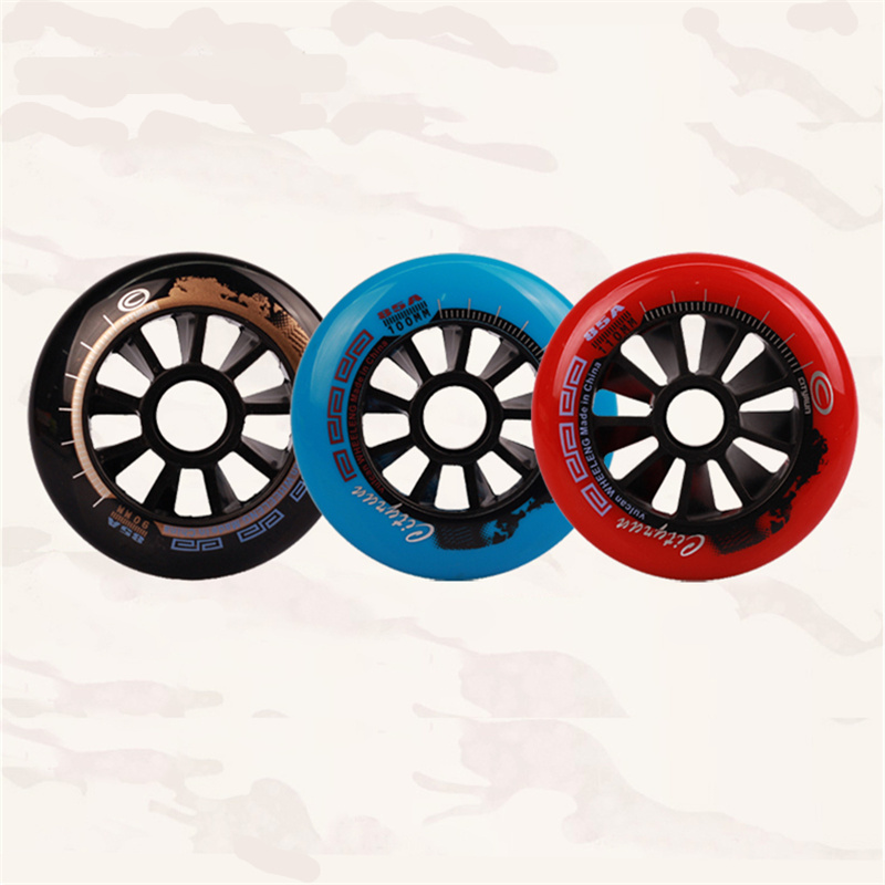 CITYRUN Inline Speed Skates Wheels Black Red Blue 110mm 100mm 90mm 4 Wheels Patines Tyre With 85A Durable PU Track Wheels 8 Pcs