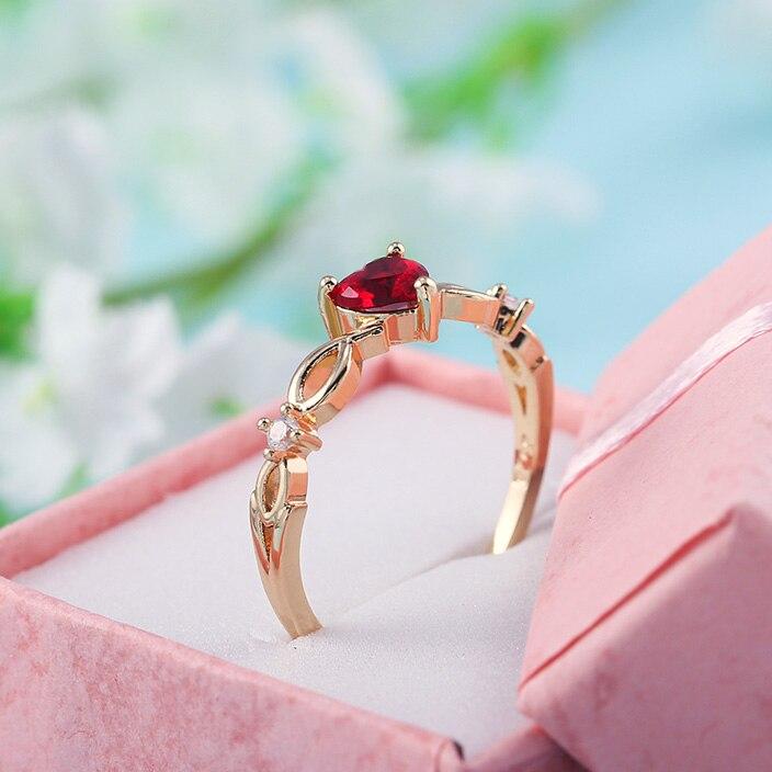 Huitan простое кольцо сердца для женщин, милые кольца для пальцев, Романтичный подарок на день рождения для девушки, модный камень циркон, ювелирные изделия 2