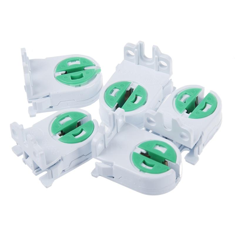Promotion!  5pcs T5 Lamp Holder Lamp Socket Tube Accessory Lamp Aging Test AC 100-250V