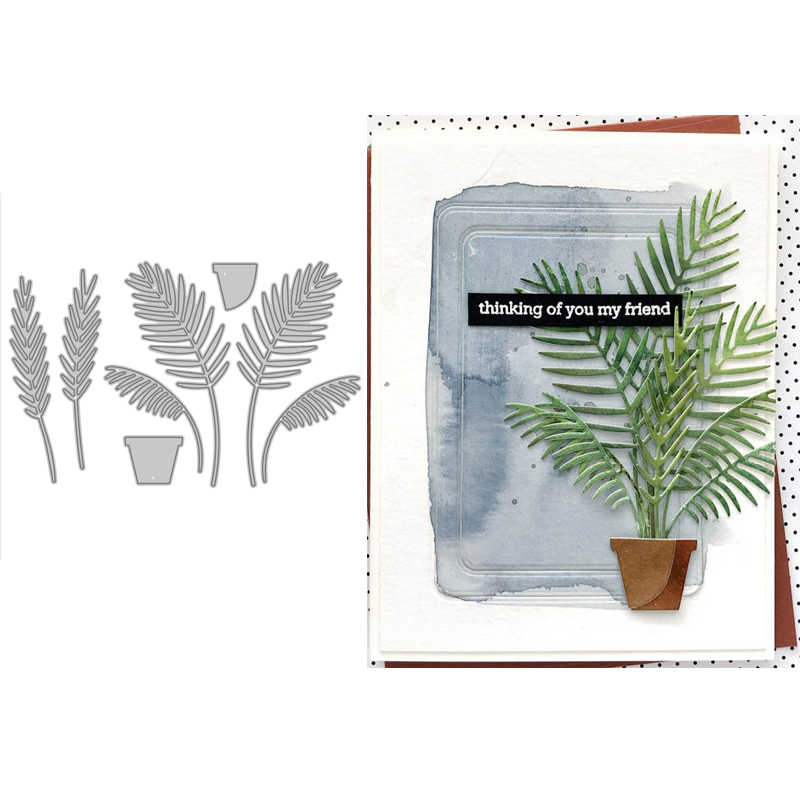 Special Parlor Palm Plant Metal Cutting Dies Scrapbooking Album Paper DIY Cards Crafts Embossing Dies New 2020
